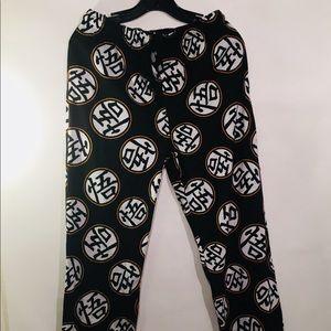 Men's Dragon Ball Z Pajama Pants Black Size Small